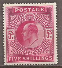 GB Great Britain SG 263 KEVII 5s L.H.M.