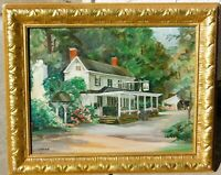 Vintage oil/board signed Junod, 14 x 18 mystery artist