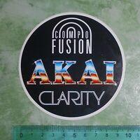 ADESIVO - STICKER - AUTOCOLLANT - AKAI - ANNI '80 - VINTAGE - 10x10 cm