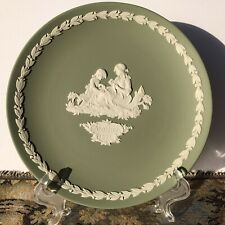 "Authentic Wedgwood Sage Green Jasperware Collector's Plate ""Mother� 1972 Edition"