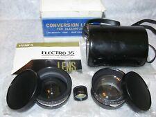 NOS Yashica Electro 35 Camera Aux. Wide + Tele Conversion f4 Lenses & Finder Set