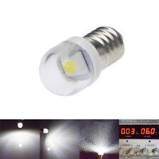 2Pcs White LED 6V E10 BULB Screw GLOBE for FLASHLIGHT TORCH HEAD LAMP BICYCLE