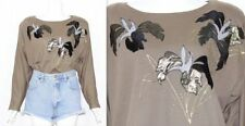 Polyester Oversized Vintage Tops & Shirts for Women