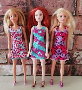 Mattel Barbie Bundle Trendy Basic Chic Dolls DVX86 DVX89 DVX91 Millie & Red Head