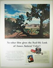 Vintage 1952 ANSCO CAMERA & 8mm MOVIE FILM Lg Magazine Print Ad