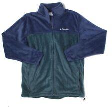 Columbia Mens Blue Size LT Fleece Knit Mountain Full Zip Jacket $65 #264