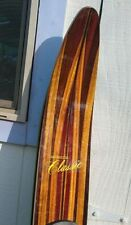 "Beautiful  VINTAGE GREG  CLASSIC  WOOD SLALOM WATER  SKI   67"""
