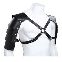 Men's Shoulder Armors Buckles Faux Leather Body Chest Harness Costume Clubwear