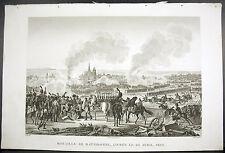 Bataille de Ratisbonne ou Regensburg Autriche Napoléon Bonaparte 1815 Couché