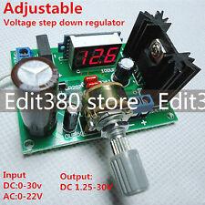 DC-DC Wandler LM317 12 24V Converter einstellbare Spannungsregler W/ voltmeter