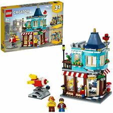 LEGO 31105 Creator 3-in-1 Townhouse Toy Store, Cake Shop, Florist & Rocket Ride