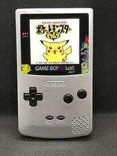 Nintendo Gameboy Color Silver Pokemon IPS 15% Larger Q5 OSD Backlight