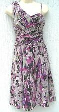 Marc New York Women Dress Lined 1 Shoulder Multi-Col Purple Size 4 $188 NEW