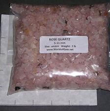 ROSE QUARTZ pink, 5-11mm tumbled 2 lb bulk xmini+ stones SAVE 20%