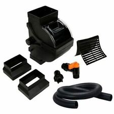 Debris Filter Rain Barrel Diverter Kit Hose Coupler Black Downspout Connector