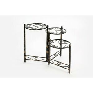 "24.41"" Three Tier Heart Clover Round Plant Stand"