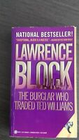 The Burglar Who Traded Ted Williams by Lawrence Block 1995 SC SIGNED First Onyx