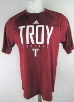 Troy University Trojans NCAA Men's Large Logo Climalite T-shirt by Adidas