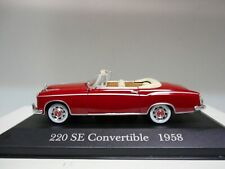 MERCEDES-BENZ 220 SE CONVERTIBLE 1958 COLLECT MERCEDES DeAGOSTINI IXO 1:43