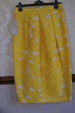 NEXT Skirt Yellow Jacquard Party Cocktail Occasion BNWT UK 10 US 6 £48