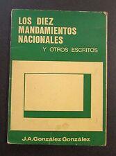 VTG BOOK / LOS DIEZ MANDAMIENTOS NACIONALES / J.A. GONZALEZ /  PUERTO RICO 1975