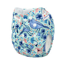 ALVA Baby Girl OneSize Cloth Diaper Reusable Washable Pocket Nappy +1Insert