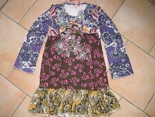 (c139) NOLITA POCKET Girls Mélange des matériaux manches longues Robe à fleurs broderie gr.152