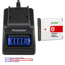 Kastar Battery LCD Quick Charger for Sony NPBG1 Sony Cyber-shot DSC-HX20V Camera