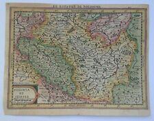 POLAND 1676 XVIIe CENTURY JANSSON - KOERIUS NICE UNUSUAL ANTIQUE MAP