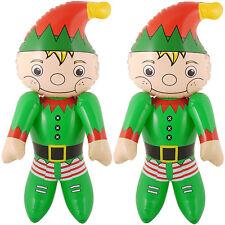 2 x aufblasbarer Weihnachtself 65 cm Weihnachten Elf Wichtel Christmas Deko