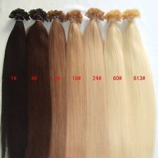 Custom Prebond Keratin Fusion Russian Double Drawn Human Hair Extensions 12-30""