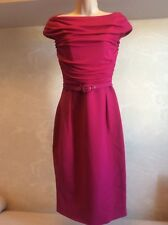 Woman's Giambattista Valli Rosa Seda Vestido Talla 42/s