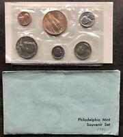USA 1981 Philadelphia Mint Souvenir Set in Umschlag 1c-50c Münzen Uncirculated
