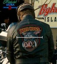 """Wildhog Wild Hogs 12""""X12"""" Leather Jacket Back Patch As Seen On Movie"""