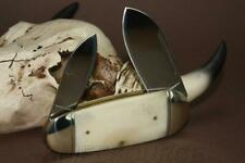 Couteau Bouledogue Canif 2 lames Plaquettes Os Rough Rider Sunfish RR139