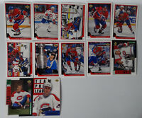 1993-94 Upper Deck UD Series 1 Montreal Canadiens Team Set of 12 Hockey Cards