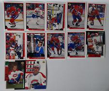 1993-94 Upper Deck UD Series 1 Montreal Canadiens Team Set of 12 Hockey Cards