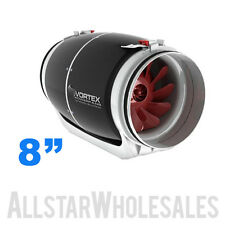Vortex S-800 Mixed Flow Fan 8 inch 728 CFM Power Fans S Line Exhaust Ventilation