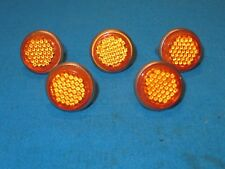 """License Plate 1"""" Amber Reflectors with Metal Back and Wing Nut - Set of 5 - New"""