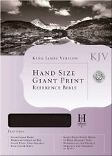 KJV Large Print Personal Size Reference Bible, Black Genuine Leather Indexed,