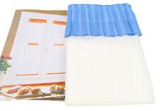2 PANNELLI tende tenda 65 x 150 panna blu con mantovana Marina