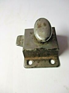 Nickel on Steel Transom Window Cabinet Door Spring Latch Lock Thumb Turn Antique