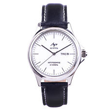 LUCH Automatic Wristwatches. Mechanical SELF-WINDING Russian Watch White 3593024