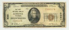 $20 Series 1929 National Banknote from Florence, Colorado (Charter 5381)