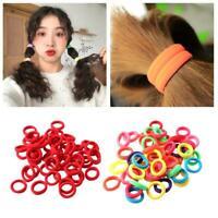 50* Kids Girl Lady Elastic Rubber Hair Bands Ponytail Holder Head Rope Ties Best