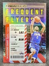 🔥2020-21 NBA Hoops Kawhi Leonard Frequent Flyers SSP #13 Holo Foil HTF Clippers