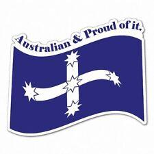 Australian And Proud Eureka Sticker Aussie Car Flag 4x4 Funny Ute