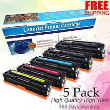 Set of 5 PK CE320A 128A Laser Toner For HP Color LaserJet Pro CM1415FNW CP1525NW