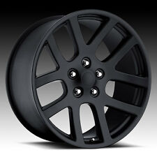 "22""x10"" Dodge RAM 1500 SRT10 Style Wheels Matte Black Rims Durango Dakota 24"