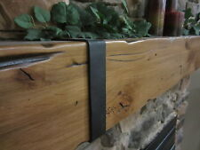 Fireplace Mantel Rustic Knotty Alder Salvaged Barnwood Post Timber Beam Rail Tie